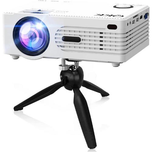QKK 2021 Upgraded 6500Lumens Mini Projector: